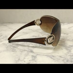 Authentic Chanel Brown Gold Sunglasses